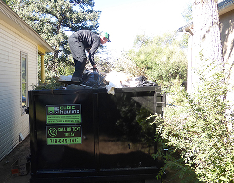 dumpster loading colorado sprinigs