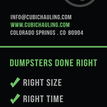 cubic hauling mini dumpsters colorado springs