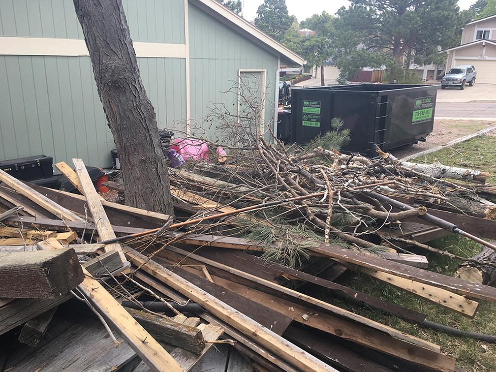 storm damage dumpster colorado springs