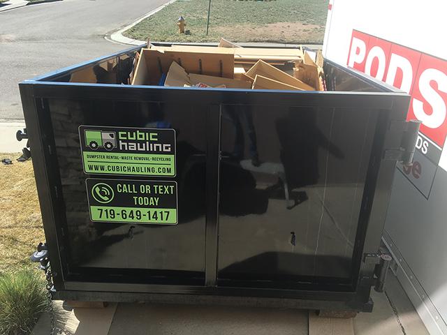 moving dumpster