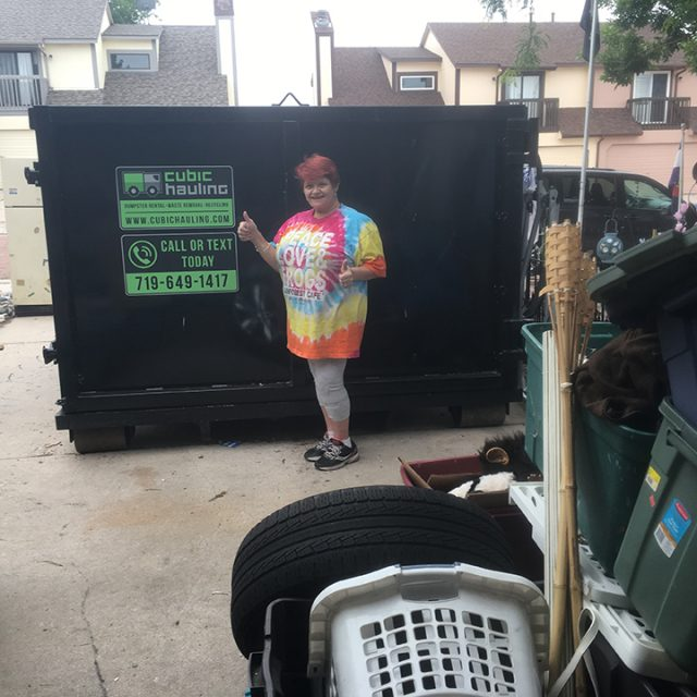 garage cleanout dumpster rental colorado springs
