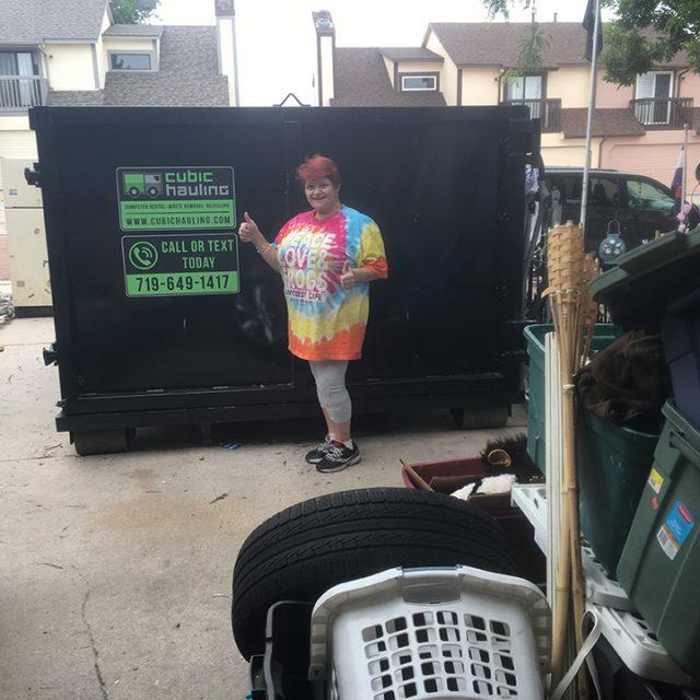 garage cleanout dumpster rental colorado springs