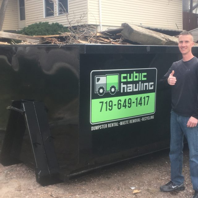 storm damage dumpster rental colorado springs