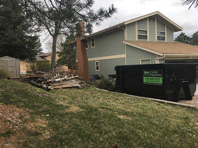 Storm Damage Dumpster Rental Colorado Springs Co Springs