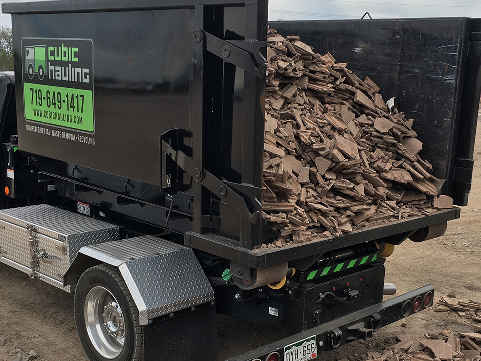 Concrete Recycling Dumpster Rental Colorado Springs Roll